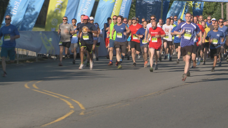 Thousands of full-time workers took part in the 38th annual J.P. Morgan Corporate Challenge Thursday.