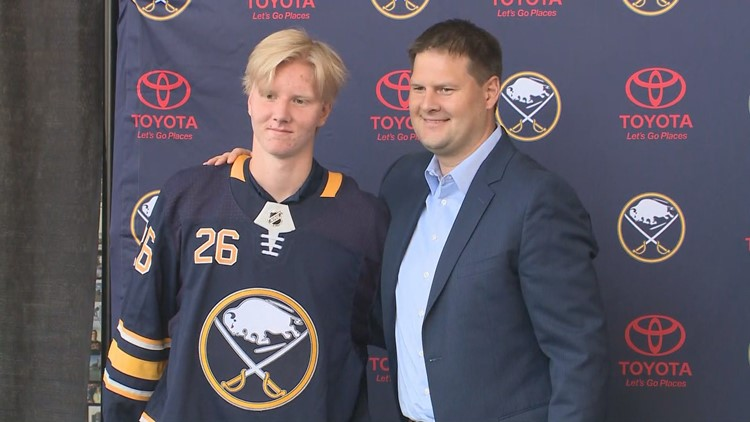 The Buffalo Sabres have signed their top draft pick to an entry-level contact.