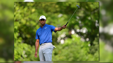 Koepka Leads PGA, Woods Tied for 6th