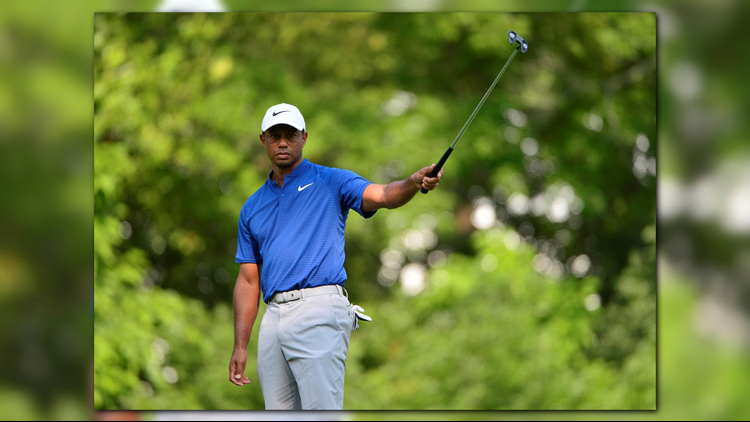 Tiger Woods is in contention with the final round of the PGA set to tee off Sunday.