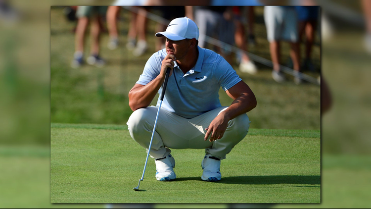 The field at the PGA is chasing Brooks Koepka who has a two stroke lead heading into Sunday's final round.