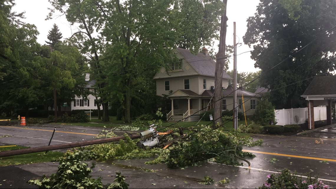storm causes damage and power outages in parts of wny