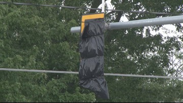 New traffic lights in Newstead not working yet