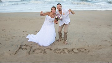 Pennsylvania couple rushed OBX wedding ahead of Hurricane Florence