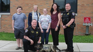 School raises funds to outfit Sheriff's office K9 with bullet proof vest
