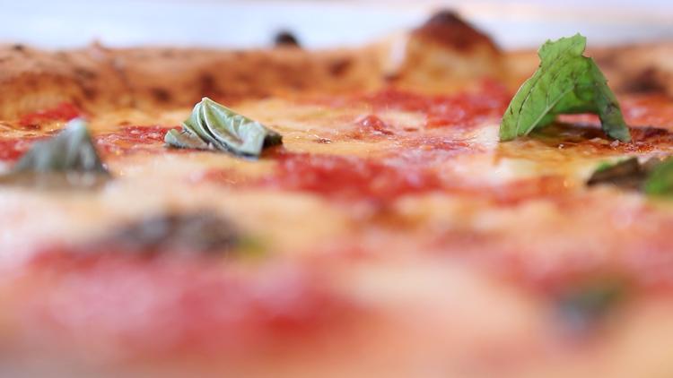 Fresh pizza at Forno Napoli