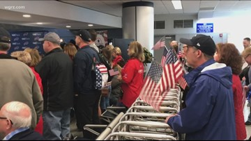 Dozens of Veterans Take Part in Honor Flight Trip to D.C.