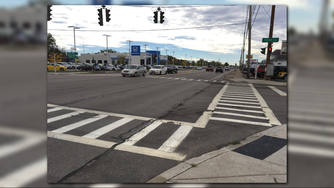 check of nysdot high visibility crosswalks along niagara