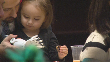 WNY high schoolers are giving 3D-printed prosthetic hands to local children who need them. For free.