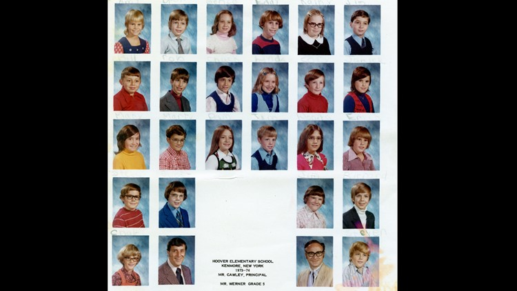 Picture of Mr. Werner's 5th grade class in 1973-74.