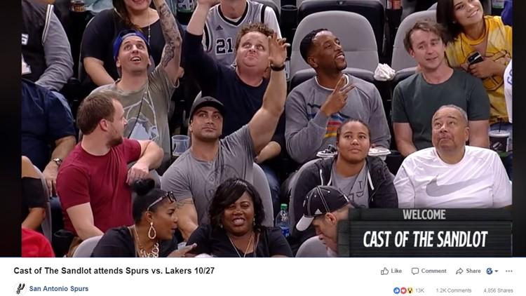 The Sandlot' cast reunites at San Antonio Spurs game | wgrz com