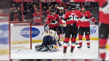 Sabres lose to Senators in Pominville's 1,000th game