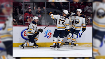 Sabres Win Thriller in OT, 6-5 Over Montreal