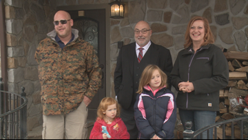 Mortgage-free smart home presented to Western New York Veteran and family