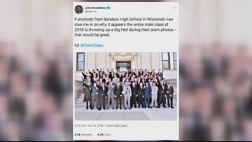 Apparent Nazi salute prom photo elicits stunned response