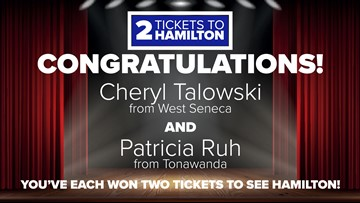 Winners announced for '2 Tickets to Hamilton' contest
