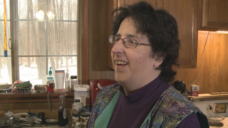 Cuba woman gives and receives at the Olean Food Pantry
