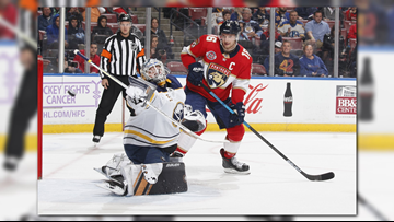 Barkov's overtime goal lifts Panthers past Sabres 3-2