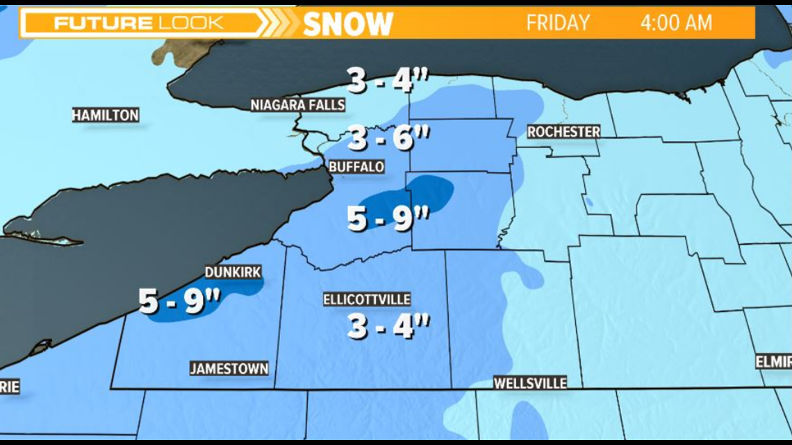 snow winding down in western new york thursday evening