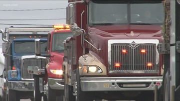 'Corona convoy': Truck drivers in Genesee County aim to lift spirits