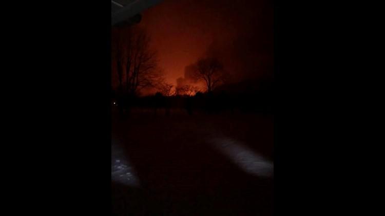 Oil Derrick Fire