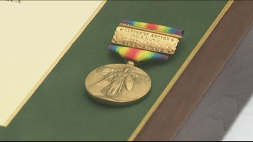 Local WWI vet receives purple heart