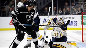 Hutton, Mittelstadt power Sabres to win over Kings