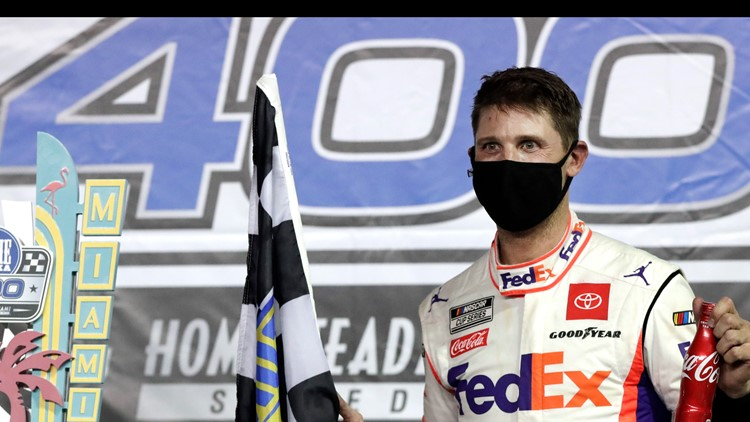 Denny Hamlin wins Dixie Vodka 400 at Homestead