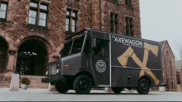 Hatchets and Hops is bringing axe throwing anywhere with the Axewagon
