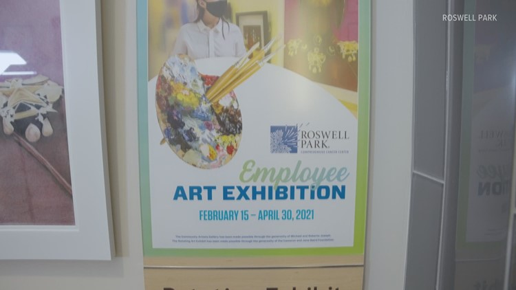 Roswell Park Staff Art Exhibit brightens hospital during pandemic