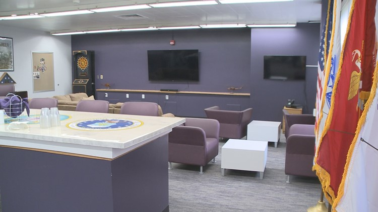 Veterans lounge at Niagara University