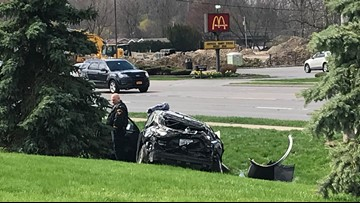 Ohio man injured in two car crash in Amherst