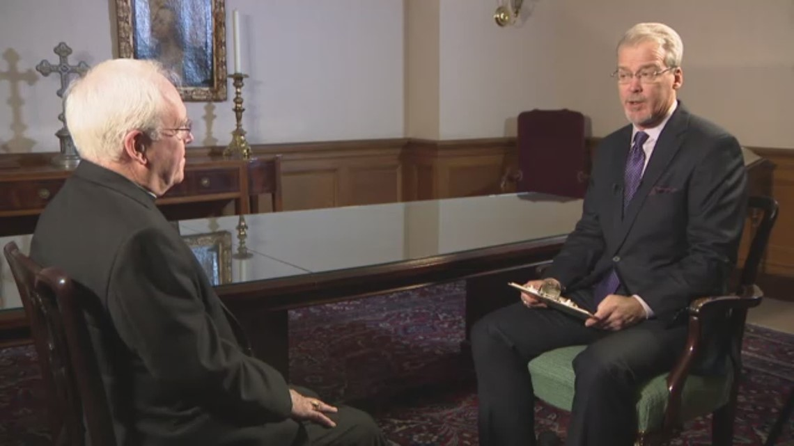Bishop Richard Malone talks about poll showing majority of Catholics want him to resign