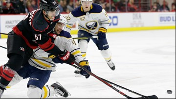 Svechnikov, Williams lead Hurricanes past Sabres 4-2