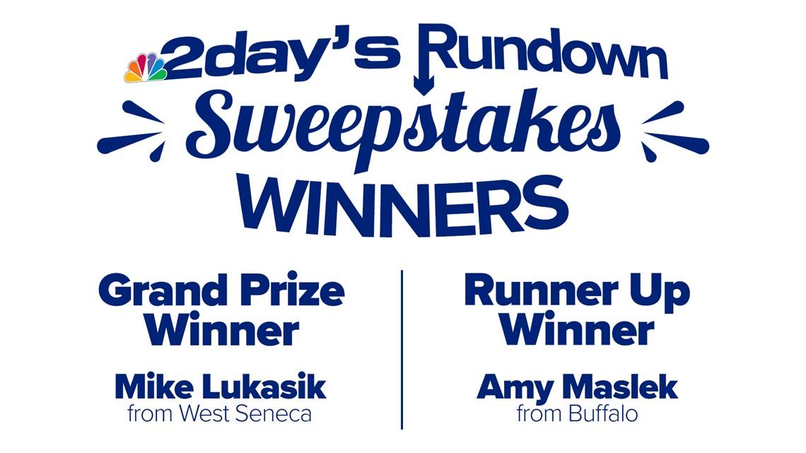 2day's Rundown Sweepstakes' winners