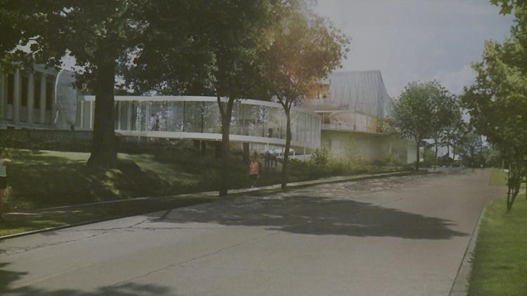 Future look of the Buffalo Albright-Knox-Gundlach Art Museum