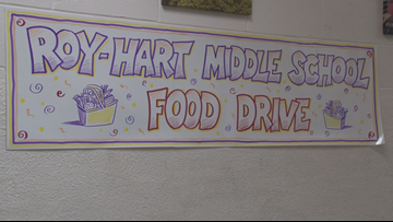 Small School, Big Donation: Roy-Hart Middle School collects over 6,000 items for local food pantry
