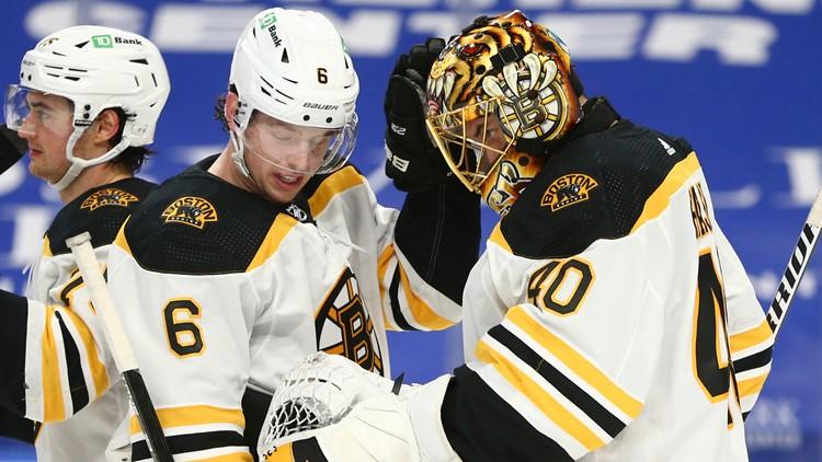 Bruins blank Sabres