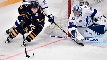 Sabres lose 4th straight game, this time to Lightning in Sweden