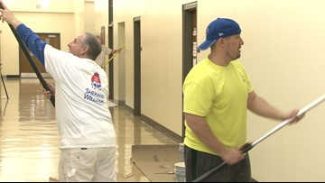 Volunteers give Bennett High School a touch-up