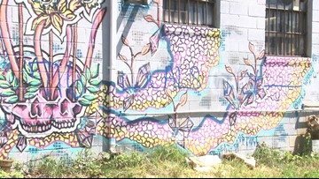 Hertel Art Alley vandalized with spray paint