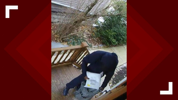 Package theft in Buffalo