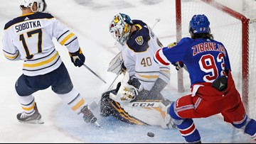 Rangers jump on Sabres early and pull away for 6-2 win