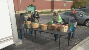 Fresh Produce market in old First Ward