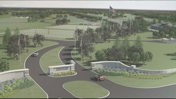 Where does the WNY National Cemetery project in Pembroke stand?