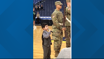 WNY kindergartner sings National Anthem at the KeyBank Center