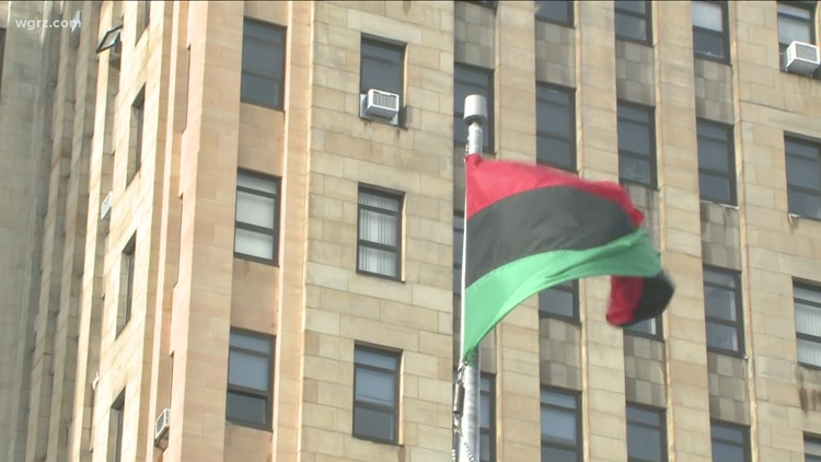 Kwanzaa flag raising held in Buffalo