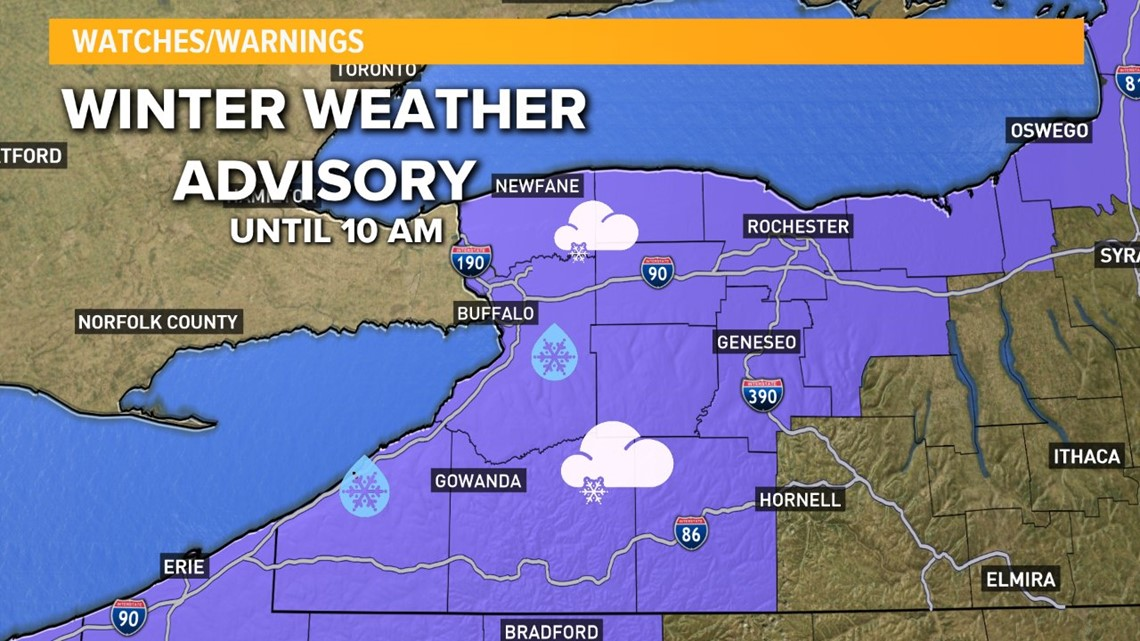 winter weather advisory issued for wny has expired