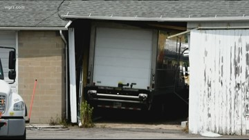 Truck Smashes Into Old Cambria Highway Garage