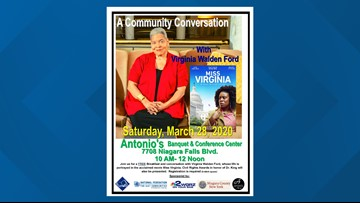 """Postponed -""""Community Conversation"""" with Ms. Virginia Walden Ford"""